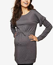 Motherhood Maternity Ruffled French Terry Sweatshirt