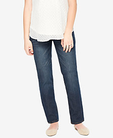 Motherhood Maternity Straight-Leg Jeans