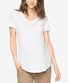 Splendid Maternity Cotton V-Neck T-Shirt