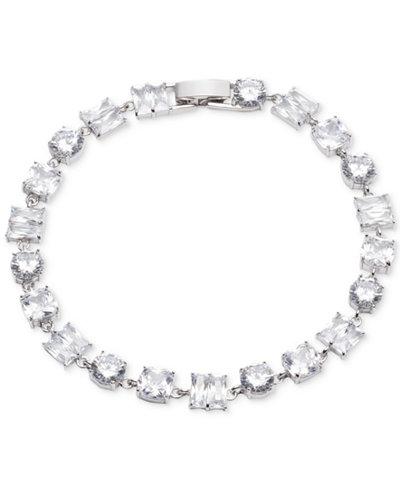 Carolee Silver-Tone Cubic Zirconia Flex Bracelet