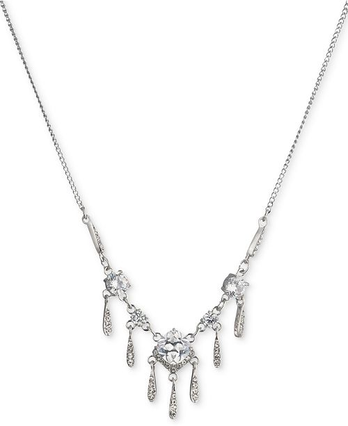 Carolee Silver-Tone Cubic Zirconia Statement Necklace