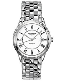 Longines Men's Swiss Automatic Flagship Stainless Steel Bracelet Watch 38.5mm