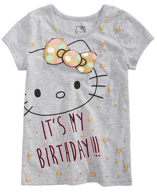 Hello Kitty Toddler Girls Birthday T Shirt