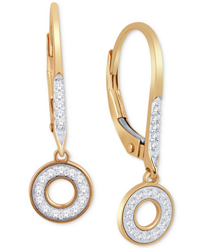 Diamond Drop Earrings (1/10 ct. t.w.) in 10k Gold