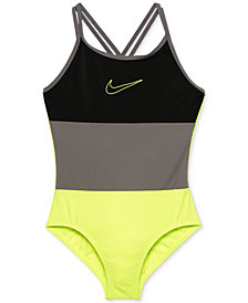Nike 1-Pc. Colorblocked Swimsuit, Big Girls