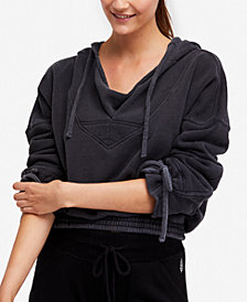 Free People FP Movement Tie-Cuff Cropped Hoodie