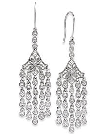 Diamond Chandelier Earrings (1/4 ct. t.w.) in Sterling Silver