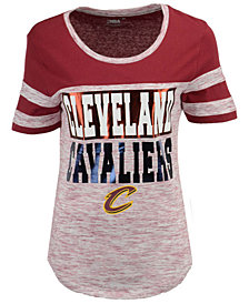 5th & Ocean Women's Cleveland Cavaliers Space Dye Foil T-Shirt