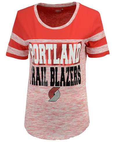 5th & Ocean Women's Portland Trail Blazers Space Dye Foil T-Shirt