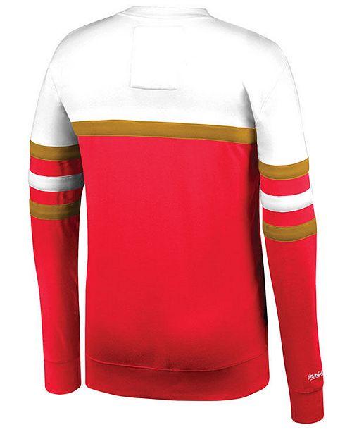 b88ede95a4005 Mitchell & Ness Men's San Francisco 49ers Head Coach Crew Sweatshirt ...