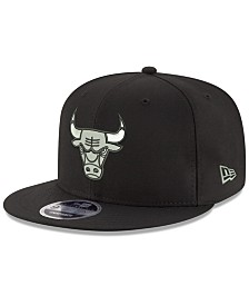 New Era Chicago Bulls Black on Shine 9FIFTY Snapback Cap