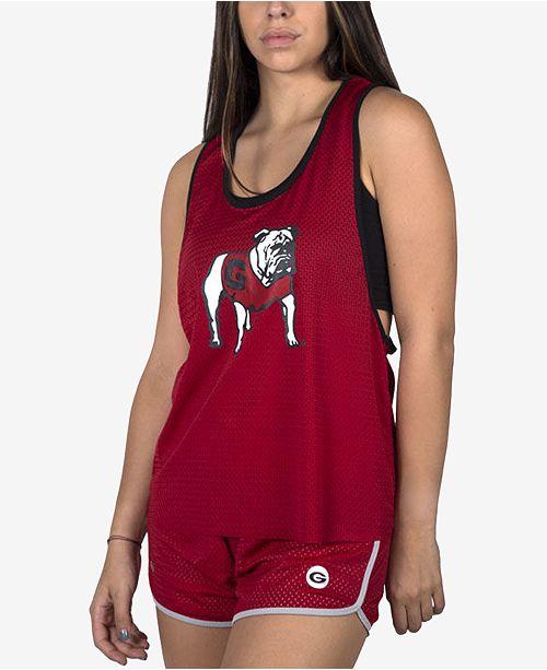 faca8e4942 nuyu Women s Georgia Bulldogs Mesh Tank Bralette   Reviews - Sports ...
