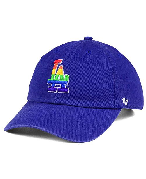 cheap for discount 013c6 b0b74 ...  47 Brand Los Angeles Dodgers Pride CLEAN UP Cap    ...