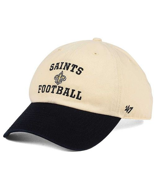 '47 Brand New Orleans Saints Steady Two-Tone CLEAN UP Cap