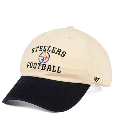 '47 Brand Pittsburgh Steelers Steady Two-Tone CLEAN UP Cap
