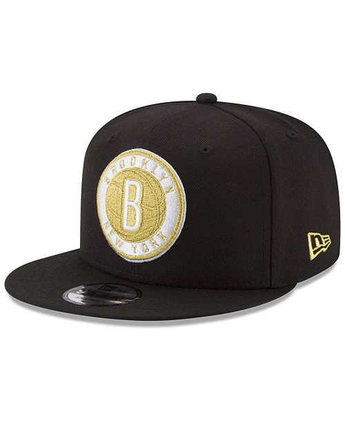 low priced 10b20 366a9 ... New Era Brooklyn Nets Gold on Team 9FIFTY Snapback Cap ...