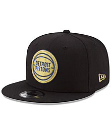 New Era Detroit Pistons Gold on Team 9FIFTY Snapback Cap
