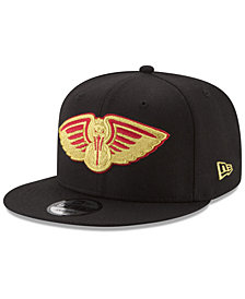 New Era New Orleans Pelicans Gold on Team 9FIFTY Snapback Cap