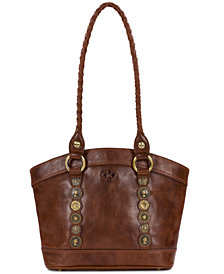 Patricia Nash Studded Hardware Zorita Shoulder Bag