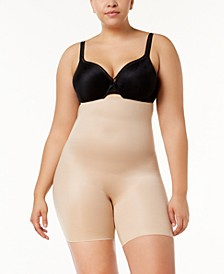 Women's  Plus Size Power Conceal-Her High-Waisted Mid-Thigh Short 10132P
