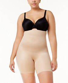SPANX Women's  Plus Size Power Conceal-Her High-Waisted Mid-Thigh Short 10132P