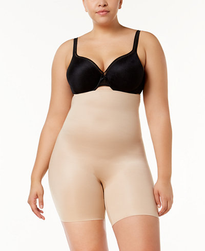 SPANX Plus Size Firm Tummy-Control High-Waist Double-Layered Thigh Slimmer 10132P