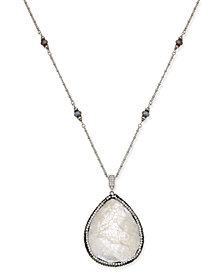 Paul & Pitü Naturally Two-Tone Multi-Stone & Imitation Mother-of-Pearl Pendant Necklace