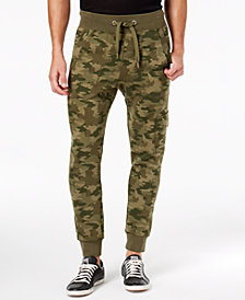 Puma Men's Camo-Print Fleece Cargo Pants