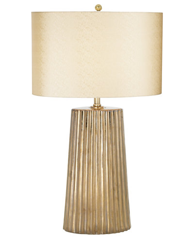 Pacific Coast Oval Inverted Flute Ceramic Table Lamp