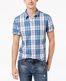 American Rag Men's Plaid Short Sleeve Shirt, Created for Macy's