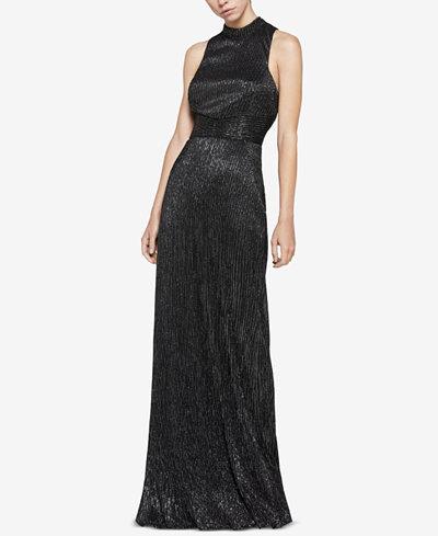 Bcbgeneration Metallic Knit Cutout Maxi Dress