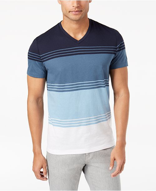 9a09748d0842 ... Alfani Men's Colorblocked Striped T-Shirt, Created for Macy's ...