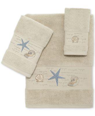 Larissa Cotton Embroidered Bath Towel