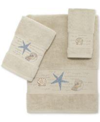 Avanti Larissa Cotton Embroidered Bath Towels