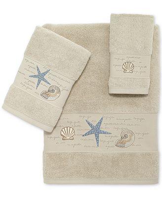 Avanti Larissa Cotton Embroidered Fingertip Towel