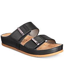 Baretraps Cherilyn Memory Foam Slide Flat Sandals