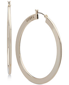 DKNY Gold-Tone Slim Hoop Earrings, Created for Macy's