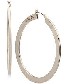 "DKNY Gold-Tone Slim 1 2/3"" Hoop Earrings, Created for Macy's"