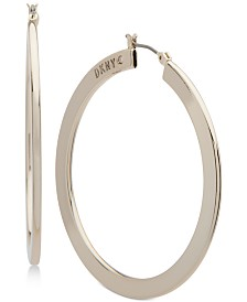"DKNY Gold-Tone Slim 1 2/3"" Hoop Earrings, Created for Macy's"