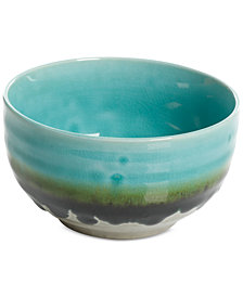 Gibson Elite Reactive Glaze Jade Fruit Bowl, Created for Macy's