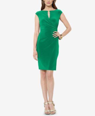 cheap ralph lauren clothes outlet ralph lauren off shoulder sheath dress