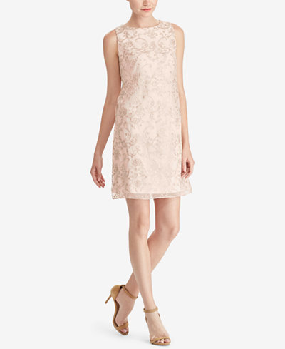 American Living Embroidered Mesh Overlay Dress