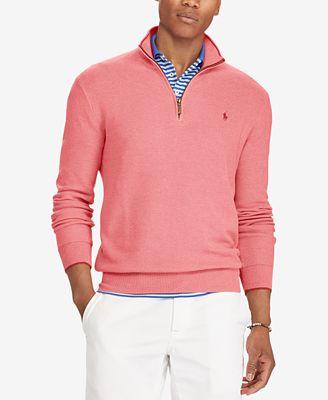Polo Ralph Lauren Mens Big Tall Quarter Zip Sweater Sweaters
