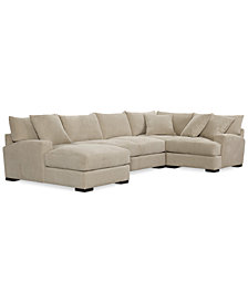 Rhyder 4-Pc. 80'' Fabric Sectional with Chaise, Created for Macy's