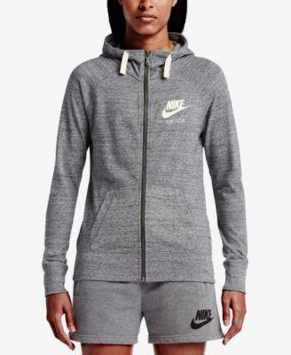 6140d7941b Nike Gym Vintage Full-Zip Hoodie   Reviews - Tops - Women - Macy s
