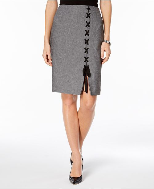 Nine West Lace-Up Skirt
