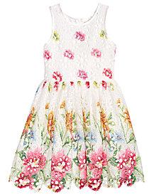 Nanette Lepore Painted Lace Dress, Big Girls