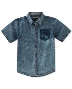 Calvin Klein Release Hem Denim Shirt Big Boys (820)