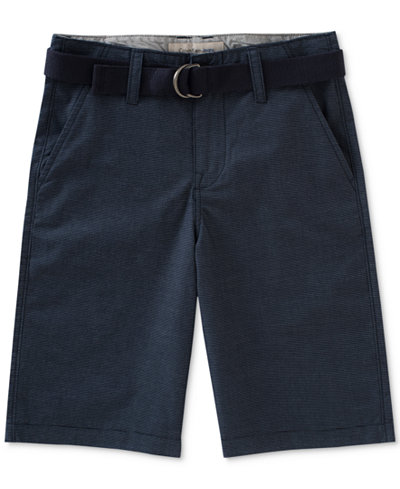 Calvin Klein Belted Chambray Shorts, Big Boys