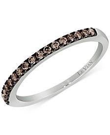 Le Vian Chocolatier® Diamond Band (1/4 ct. t.w.) in 14k White Gold